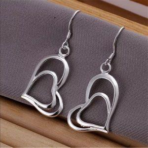 Sterling Silver Heart Earrings NEW